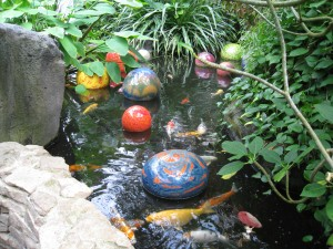 Franklin Park Conservatory Chihuly Glass Balls in Pond